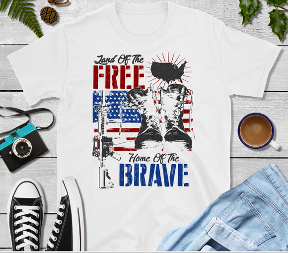 Land of the Free Home of the Brave Sublimation Transfer