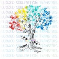 Autism Tree Grow Your Awareness Sublimation Transfer