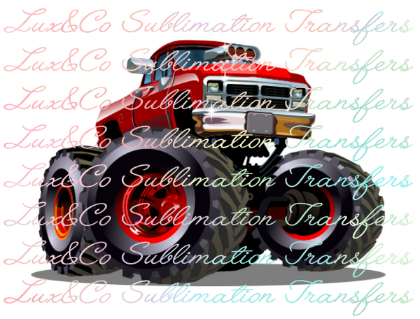 Monster Truck Sublimation Transfer