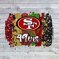 San Francisco 49ers Brush Strokes Sublimation Transfer