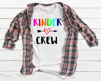 Kinder Crew Sublimation Transfer