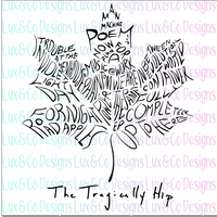 The Tragically Hip SVG File