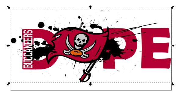 Tampa Bay Buccaneers Football DOPE SVG PNG Digital Design