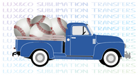 Baseball Vintage Truck Sublimation Transfer