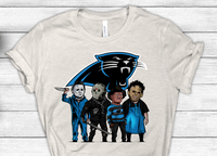 Carolina Panthers Halloween Horror Crew Football Sublimation Transfer