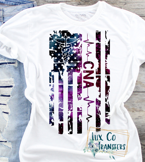 CNA American Flag Sublimation PNG Digital Design