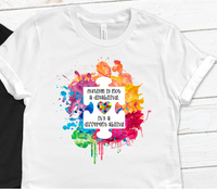 Autism watercolor splash Sublimation PNG Digital Design
