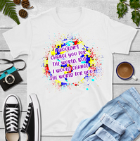 Autism Awareness World Sublimation Transfer