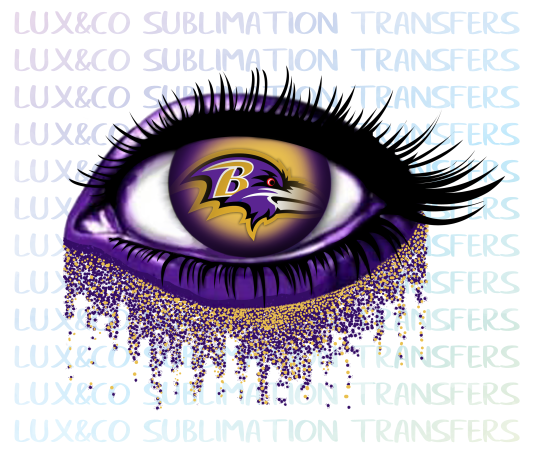 Baltimore Ravens Glitter Eye Sublimation Transfer