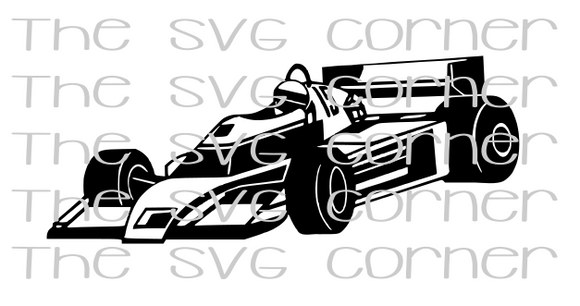 Indy Race Car SVG File