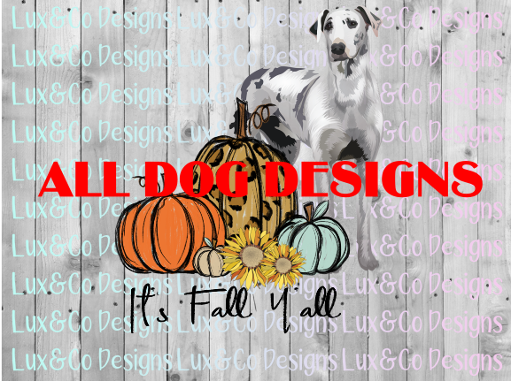 BUNDLE Its Fall Yall Pumpkin Sunflower Cheetah Dog Sublimation PNG Digital Design