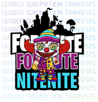 Fortnite Nite Nite Sublimation Transfer