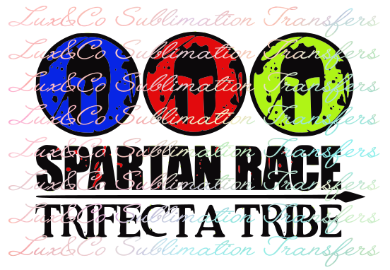 Spartan Race Trifecta Tribe Sublimation Transfer