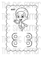 BUBBLE GUPPIES VALENTINE CRAYON CARD SVG FILE