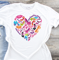 Barbie Heart Sublimation Transfer