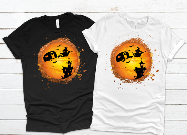 Camper Witch Halloween Sublimation PNG Digital Design