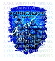 Earthquakes San Jose Marvel Sublimation Transfer