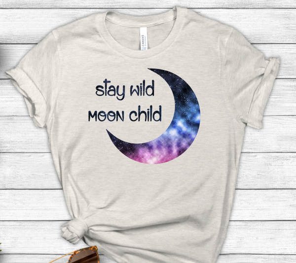 Stay Wild Moon Child Sublimation PNG Digital Design