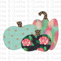 Floral Pumpkins Sublimation Transfer