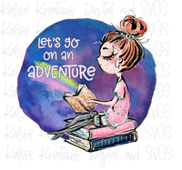 Let's go on an Adventure red hair Sublimation Transfer