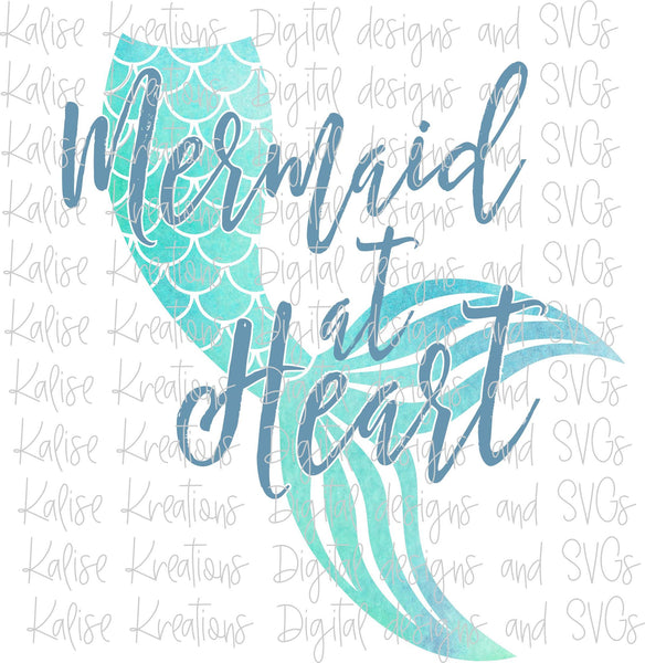 Mermaid at Heart Sublimation Transfer