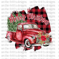 Merry Christmas Vintage Truck Sublimation Transfer