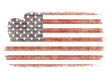Distressed American Flag Sublimation Transfer