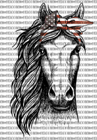 Horse American Flag Sublimation Transfer