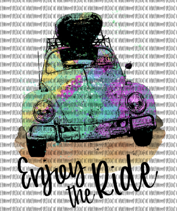 Enjoy the Ride Volkswagen Sublimation Transfer