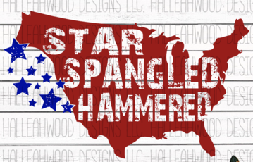 Star Spangled Hammered Sublimation Transfer