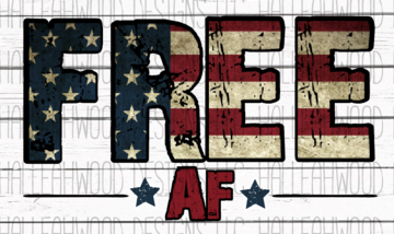 Free AF American Flag Sublimation Transfer