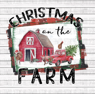 Christmas on the Farm  Sublimation Transfer