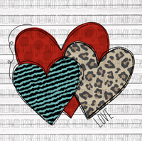 Love Heart Sublimation Transfer