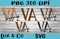 Virginia VA Leopard State Bundle SVG INCLUDED Sublimation PNG Digital Design