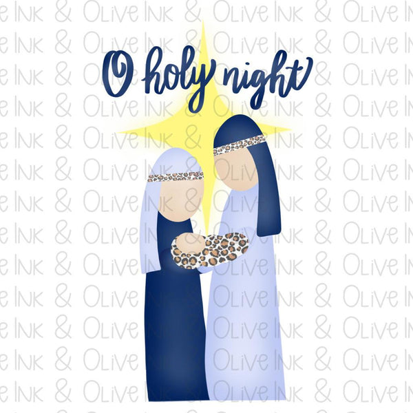Oh Holy Night Mary Joseph Sublimation Transfer