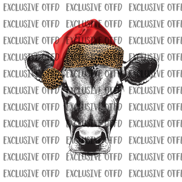 Christmas Cow Head Sublimation Transfer