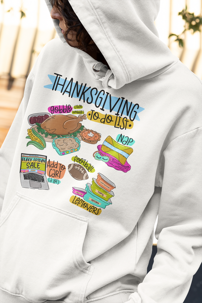 Thanksgiving to do List Sublimation Transfer