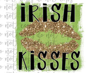Irish Kisses Sublimation Transfer Waterslide