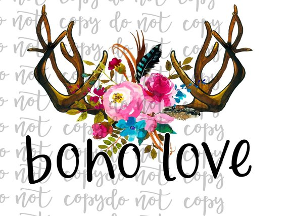 Boho Love Sublimation Transfer Waterslide