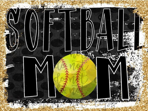 Softball Mom Sublimation Transfer Waterslide