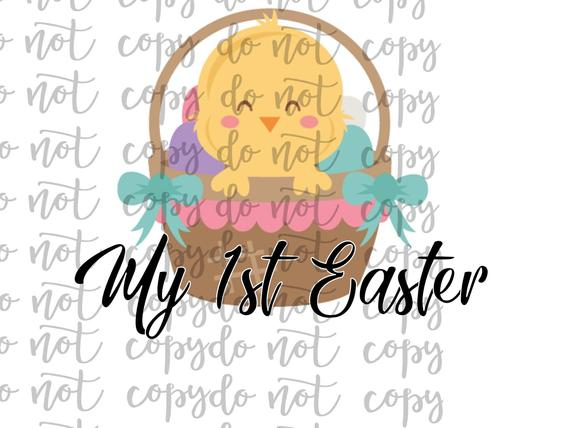 My 1st Easter Sublimation Transfer Waterslide