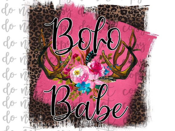 Boho Babe Sublimation Transfer Waterslide