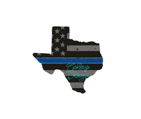 Distressed Texas Dallas Back the Blue State Police Emergency Crew SVG File