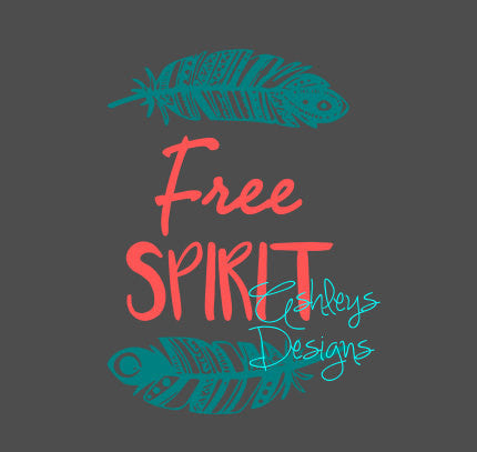 Free Spirit Feather SVG File