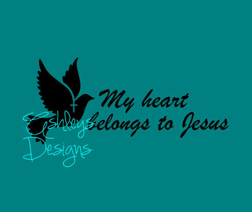 My Heart Belongs to Jesus Dove SVg File