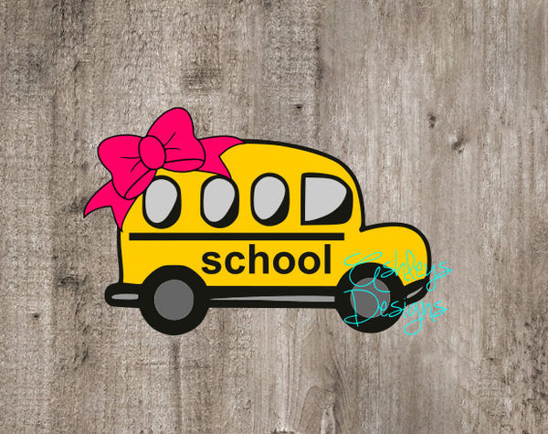 School Bus Bow Back to School SVG FIle