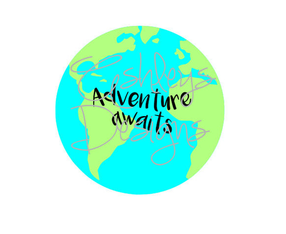 Adventure Awaits Earth SVG File
