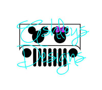 Jeep Minnie Mickey SVG File