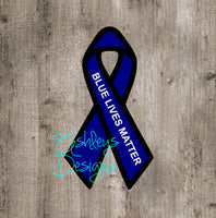 Blue Lives Matter Police Ribbon SVG File