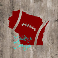Wisconsin Football State SVg File